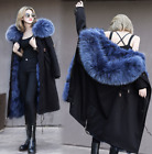 Womens Fur Lined Overcoat Thicken Parka Over Knee Long Warm Outwear Jacket A51