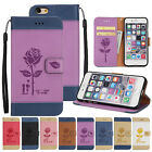 For iPhone 7 6 6s Plus Pattern Magnetic Leather Wallet Case Stand Flip Cover HOT