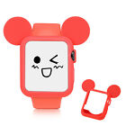 For Apple Watch Series 1 2 Cartoon Mouse Slim Soft Bumper Shockproof Rubber Case