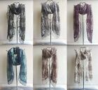 New Women Lady Scarf beads pearl mesh two layers flower lace Gift