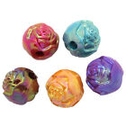 200PCs Acrylic Spacer Beads Flower Carved Round Mixed AB Color 3-8 D2R9