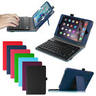 For Ipad Mini 4 3 2 1 Folio Pu Case Stand Cover + Detachable Bluetooth Keyboard