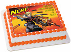 Nerf Guns edible cake cupcake toppers birthday war games party 6th 8th 10th 12th