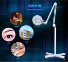 5X Huge Foldable Floor Standing Magnifying Glass w/ Cold Light for Beauty Salons
