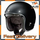 X-Lite X-201 Fresno Open Face Scooter Motorcycle Helmet - Matt Black