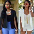 Sexy Women Casual Coat Solid Slim Suit Blazer Coat Lady Jacket Party Outwear NEW