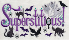 WICKEDLY SUPERSTITIOUS HALLOWEEN Made To Order Embroidered Kitchen Towel Choices