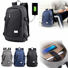 Anti-theft Unisex Laptop Notebook Backpack Travel School Bag w/ USB Port Lot