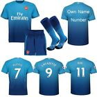 17/18 Football Soccer Short Sleeve Jersey Kits 3-14 Years Kids Boys Team Suit