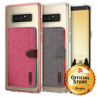 For Samsung Galaxy Note 8 | Ringke [FUSION+CARD HOLDER] Clear PC Back Case Cover