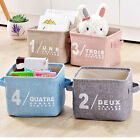 Home Sundries Storage Box Household Organizer Fabric Cube Bins Basket Container