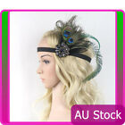 1920s Headband Peacock Feather 20s 20s Great Gatsby Flapper Headpiece gangster