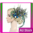 1920s Headband Peacock Feather 20s 20s Great Gatsby Flapper Gangster Headpiece