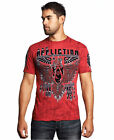 Affliction Men's Rhetoric rust t-shirt red A11109