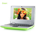 """Google Android 7"""" inch HDMI Laptop Camera WIFI Netbook Quad Core Notebook SALE"""
