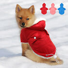 Winter Warm Dog Coats Jacket Pet Puppy Fleece Lined Clothes Apparel for Dogs S M