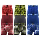 Mens Boxers Crosshatch Shorts Checkam 3PK Trunks Underwear Gift Set 3 Pack S-XXL