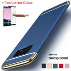 Shockproof Tempered Glass + Ultra-thin Hard Case Cover For Samsung Galaxy Note 8