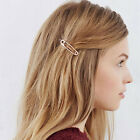 Korea Women Girl exquisite simple metal paper clip styling hairpin Hair Clip