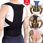 Therapy Back Shoulder Bad Posture Corrector Double Pull Lumbar Support Brace US