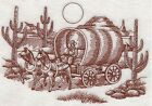 Embroidered 18x28 Flour Sack Kitchen Towel OLD WEST COWBOY SCENES 6 Choices