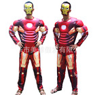 Mens Superman Hero Avengers Muscle Jumpsuits Party Hallowee Cosplay Outfit New