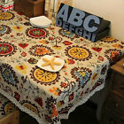 Linen Lace Tablecloth Cloth Kitchen White Party Hand Made Dining Table Cloth New