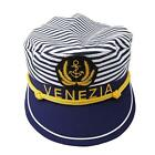 Unisex Navy Yacht Sailors Captain Boating Boat Ship Nautical Party Hat Cap LH