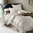 Satin Lace Doona Covers Quilt/Duvet Cover Set Queen/King Size Bed Pillow cases