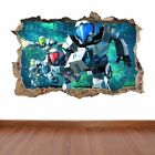 Metroid Prime Federation Shooter hole in the wall sticker decal kids fun games
