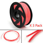 3 Pack 3D Printer Filament 1.75mm ABS PLA For Drawing Print Pen MakerBot 1KG E2