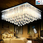 Genuine K9 Crystal Flush Ceiling Light Chandelier 3 Colours Dimmable+Remote CTRL
