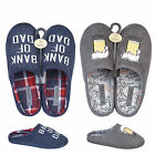 MENS LEISURE BEDROOM HOUSE INDOOR SLIP ON CASUAL FLAT WARM SLIPPERS MULES SIZE