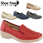 Womens Ladies Comfort Walking Work Ofice Faux Leather Shoes UK Size 3 4 5 6 7 8