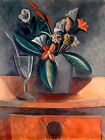 Pablo Picasso Flowers in a Grey Jar canvas print giclee 8X12&12X17 poster