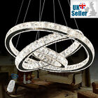 K9 Crystal Ring Pendant Ceiling Light Chandelier 3 Colours Dimmable+Remote CTRL