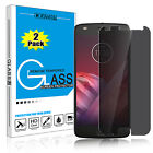 2 Pcs Solitariness Anti-Spy Tempered Glass Screen Protector For Motorola Moto Z2 Play