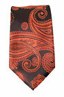 Mens Paisley Slim Tie 2 Inch Orange Amber Occassion Party Wedding Formal Tie