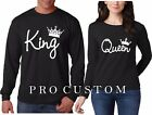 King and Queen White VALENTINES Couple matching funny cute LONG SLEEVE T-Shirt