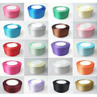 22m x 25mm Double Sided Satin Ribbons Full Roll Trim Arts & Craft Decoration UK