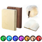 Wooden Cover LED Night Light Portable Folding Book Rechargeable USB Gift