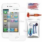 Replacement Front Outer Touch Screen Glass Lens Repair Kit+Glue For iPhone 4 4S
