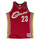 Lebron James Cleveland Cavaliers Mitchell & Ness NBA Throwback Jersey - Garnet on eBay