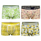 4pcs Men's Underwear Bulge Pouch Trunks Boxer Briefs Soft Shorts Underpants
