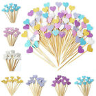 10/30pc Love Heart Birthday Cupcake Toppers Party Baby Showe