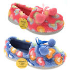 Womens Warm Winter Fur Pom Pom Home Indoor Washable Heart Slippers Shoe Size 3-8