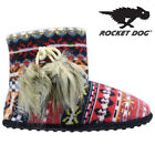 LADIES ROCKET DOG WINTER FUR COMFORT SLIP ON WARM WINTER SLIPPERS BOOTS BOOTIE