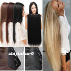 Half Full Head 5 Clips One Piece Clip in Hair Extensions Long Straight LZY US