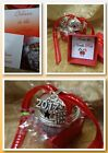 2017 Personalised Initial Rhinestone Charm Jingle Bell Polar Express Style Boxed