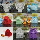 Wholesale 20/50 Pcs Laser Cut Wedding Party Favor Boxes for Gift Candy & Ribbon